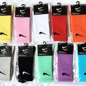 4 pairs Pastel Socks Nike Crew Cotton Socks